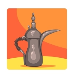 Ancient Oil Lamp Famous Touristic Attraction Of vector