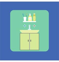 Bathroom interior icon Washbasin Soap shower gel vector