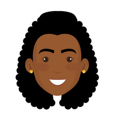 beautiful and young black woman student vector image
