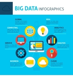 Big Data Concept Infographics vector image