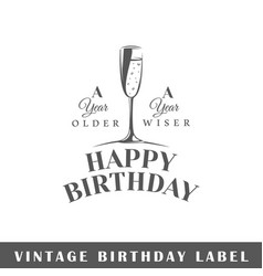 Birthday label vector