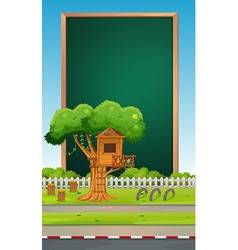 Board design with park background vector