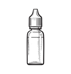 Bottle of e-liquid for electronic cigarette vector
