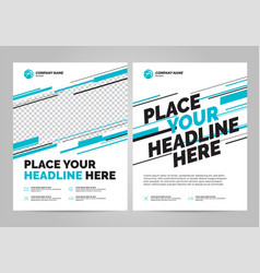 Brochure layout templat design vector