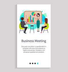 business meeting company employees in office vector image