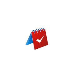 calendar check icon logo vector image
