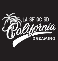 California inscription with palm tree vector