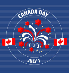 Canada day label on blue vector