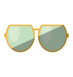 Cartoon sun glasses beach shadow vector
