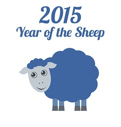 Chinese New Year of the Sheep 2015 vector image