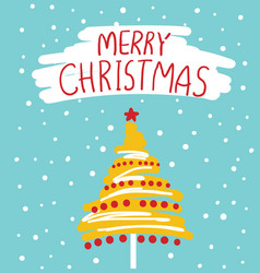 christmas card with text vector image