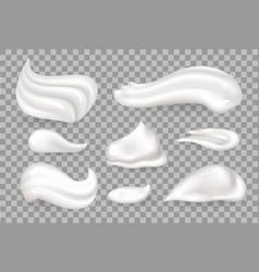 Cream mousse set transparent in vector