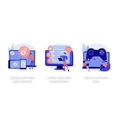cross-platform software environments vector image