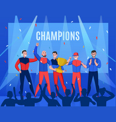 cyber sport victory composition vector image
