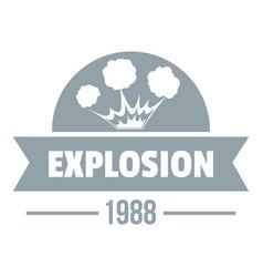 Danger explosion logo simple gray style vector