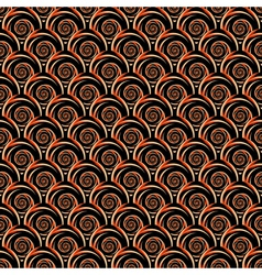 Design seamless decorative spiral pattern vector