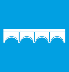 Direct bridge icon white vector