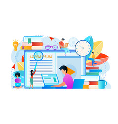 domestic studying learning people student stuff vector image