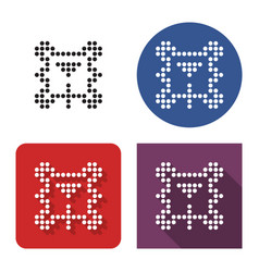 dotted icon billiards in four variants table vector image