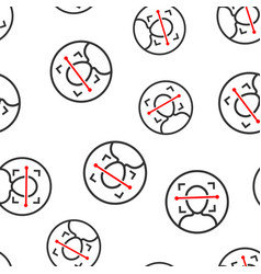 Face scan icon seamless pattern background facial vector