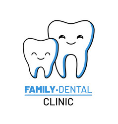 family dental clinic isolated logo vector image