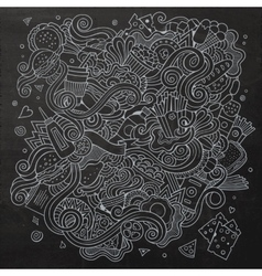 Fast food doodles elements background vector