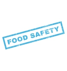 Food Safety Rubber Stamp vector image