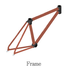 frame bicycle icon isometric 3d style vector image
