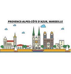 France marseille provence alpes cote d azur vector