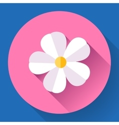 Frangipani flower icon Nature symbol vector image