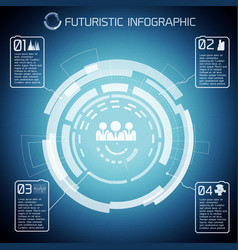 Futuristic communication conceptual background vector