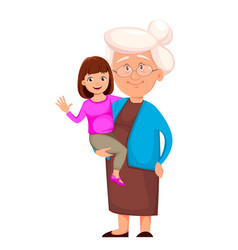 grandmother with her granddaughter vector image