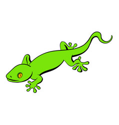 Green gecko lizard icon cartoon vector