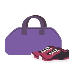 gym bag equipment icon vector image