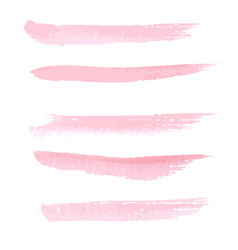 Hand drawn pastel pink color watercolo vector