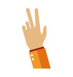 hand number three sign vector image