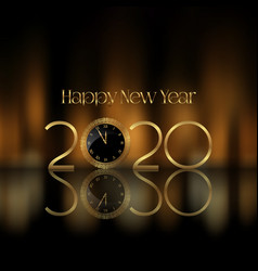 Happy new year background with golden letters vector