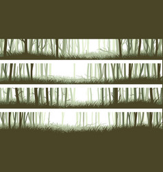 horizontal banners forest with trunks and vector image