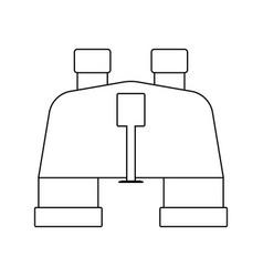 icon of binoculars vector image