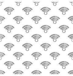 Icon wifi seamless pattern vector