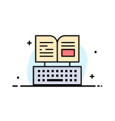 Key keyboard book facebook business logo template vector