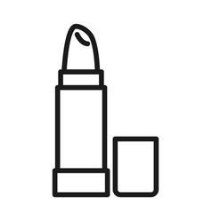 lipstick makeup cosmetic female pictogram line vector image