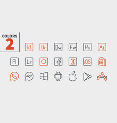 Logos ui pixel perfect well-crafted thin vector