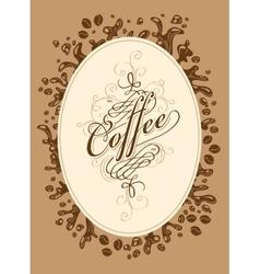 menu list for coffee vector image