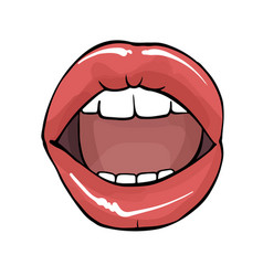 open mouth sexy lips clipart erotic vector image