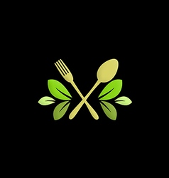 Organic food restaurant logo vector
