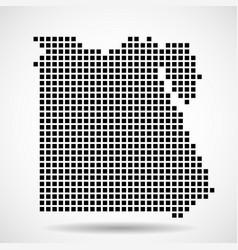 Pixel map egypt vector