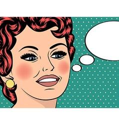 Pop Art of girl with the speech bubblePop Art girl vector image