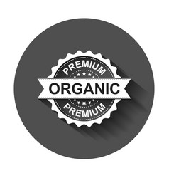 Premium organic grunge rubber stamp with long vector