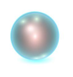 Realistic blue metall ball vector